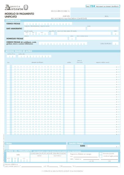 Codice tributo 6781 a cosa si riferisce e quando usarlo for F24 elide codice identificativo